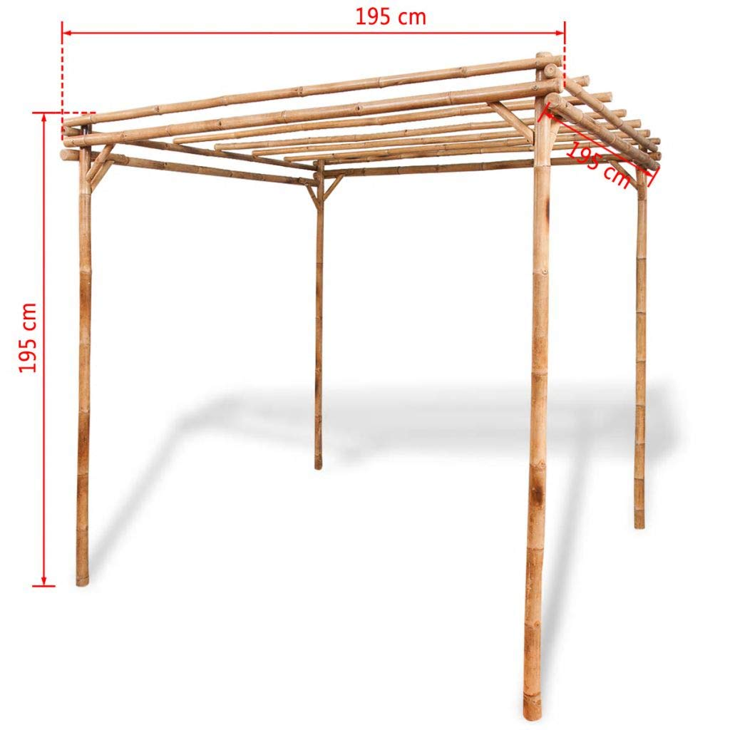 mewmewcat Upgraded Pergola Bamboo for Outdoor Garden Patio Lawn 76.8''x 76.8''x 76.8'' by mewmewcat (Image #4)