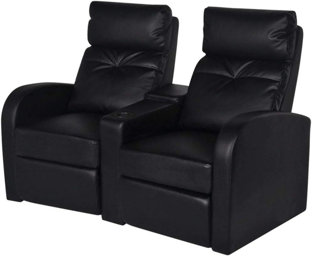Canapé inclinable 2 sièges Cinéma Maison