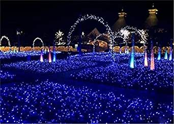 LUCKY CLOVER-A String Net Fairy Lights 810 meter 2600 Leds 8 Modes Business Waterproof Christmas Halloween Wedding Ceremony Anniversary Party Lawn Shop Decoration (blue)