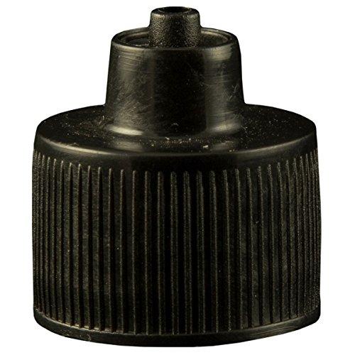 Jensen Global JGC-512-10 for 1, 2, and 4 oz Luer Lock Bottle Cap Black Neck Size 20-410 Bag of 10