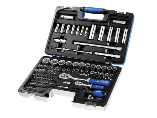 Britool E034805B Socket Set with 1/4 and 1/2-inch Mixed Drive (98 Pieces)