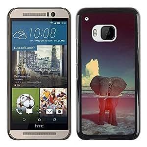 Caucho caso de Shell duro de la cubierta de accesorios de protección BY RAYDREAMMM - HTC One M9 - Clouds Animal Nature
