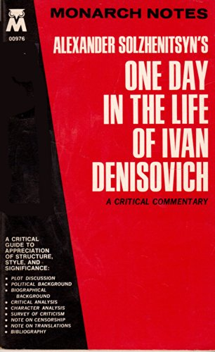 "ivan denisovich essay questions One day in the life of ivan denisovich discussion questions historical context of one day in the life of ivan  ""one day in the life of ivan denisovich."