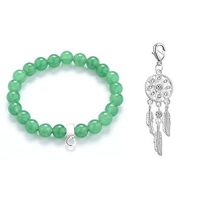 a45dd18ee Philip Jones Dream Catcher Jade Gemstone Charm Bracelet: Amazon.co.uk:  Jewellery