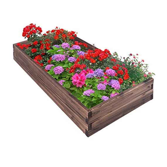 Giantex Raised Garden Bed Wood Outdoor Patio Vegetable Flower Rectangular Planter 1 🌻〖Ample Room for Planting〗- The overall dimension is 47''x24''x9''(LXWXH). This garden bed provides sufficient space for various plants growth like flowers or vegetables. Rectangular form bed which is easy and convenient for you to look after plants well inside it. 🌻〖Simple Assembling Work〗- Screws and assembly manual are included. Accurate and detailed assembling steps are presented in graphic form which is clear and easy to understand. 🌻〖Stable and Long-lasting Frame〗- This garden be is constructed with environmental friendly fir wood that is durable and stable enough to make plants grow healthily.