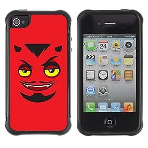 Hybrid Anti-Shock Defend Case for Apple iPhone 4 4S / Devils Face