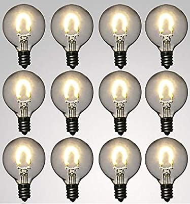 12-Pack Sunlitec Solar G40 Replacement Bulbs