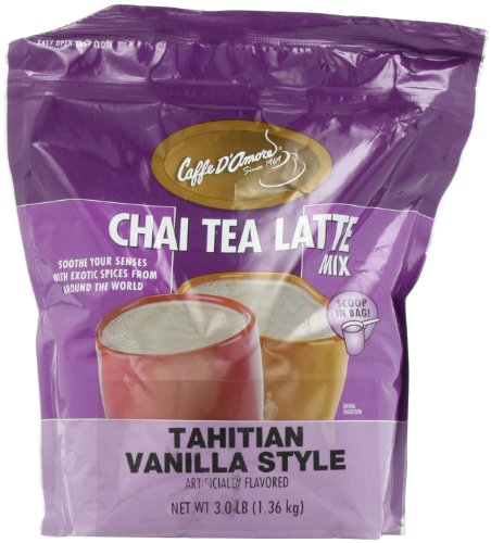 - Chai Amore Tea Latte Tahitian Vanilla Blended Drink Mix, 3 Pounds