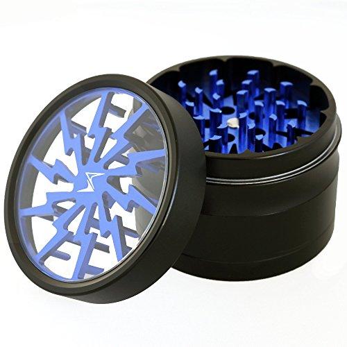 Chromium-Crusher-25-Inch-4-Piece-Lightning-Design-Tobacco-Spice-Herb-Grinder