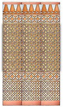 Zócalo de azulejos en relieve realizado de forma artesanal. Medida de esta composición: 0,84X1,50 mts de altura. Fabricados en España: Amazon.es: Bricolaje y herramientas