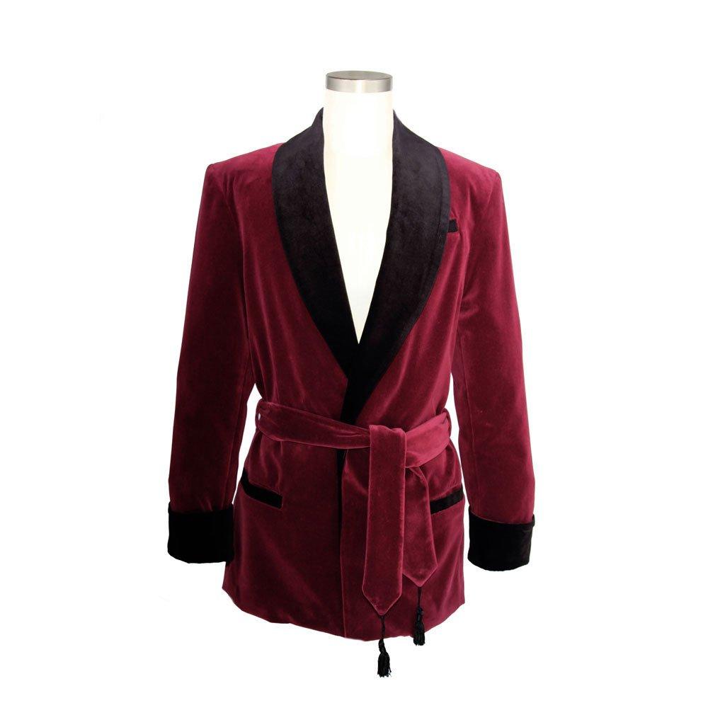 Smoky Joe's Clothing - Women's Wine Velvet Smoking Jacket with Black Lining by Smoky Joe's Clothing
