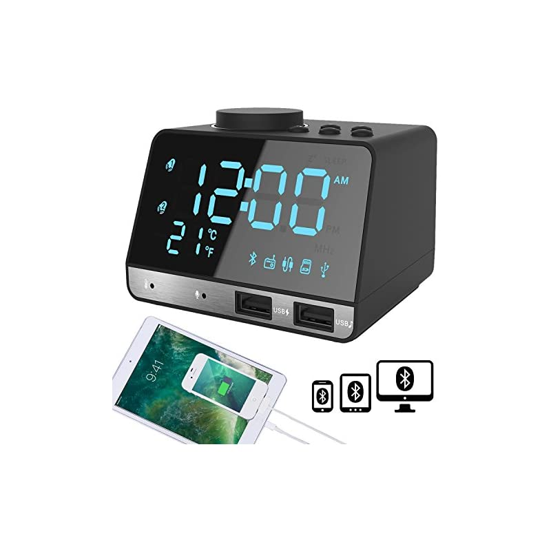 SAPE Alarm Clock for Bedrooms with Dual