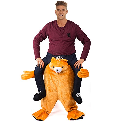 Tigerdoe Piggyback Costume - Bear Ride On Costume - Carry Me Costume - Riding Shoulder Costume (Dressing Up Costumes Adults)