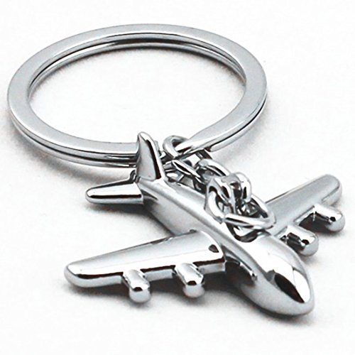 1Pcs Apogee Popular Air Plane Keychain Amazing 3D Mini Aviation Simulation Color Silver