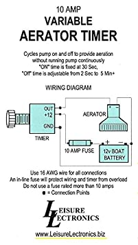 leisure lectronics variable livewell timer aerator pump 12v switch for boat  live well timer wiring diagram for switch #7