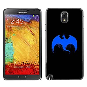 TaiTech / Hard Protective Case Cover - Blue Dragon Paint Art Drawing Painting Dropping - Samsung Galaxy Note 3 N9000 N9002 N9005
