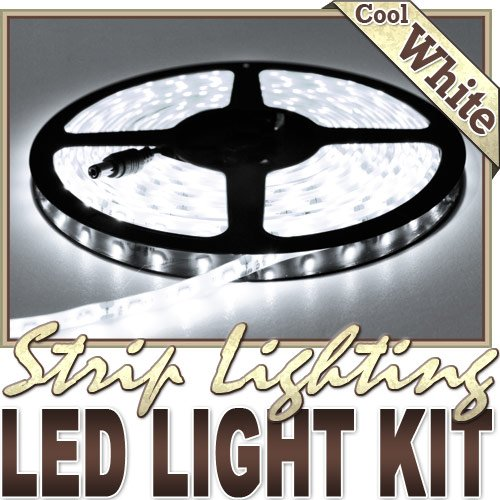 Biltek LK-DC-5M White Remote Control Dimmer Kit (16.4' Feet Cool 300 LEDs Light Smd3528 110V Plug)