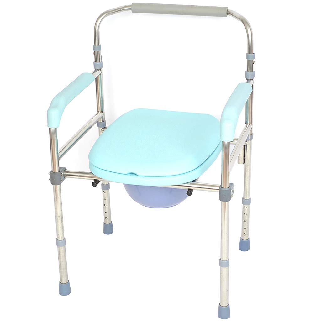 G-LXYZBQSHYP Folding Commode Chair and Toilet Surround Lightweight, Sturdy, Simple, Bathroom Support for Elderly Seniors, Disabled, Handicapped by G-LXYZBQSHYP