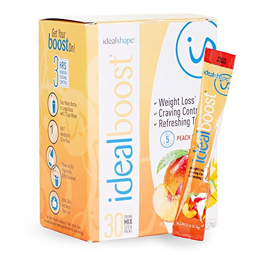IdealBoost, Weight Loss Drink Mix Packets, Peach Mango, w/Hunger Blocking and Energy Blends, 30 Servings...