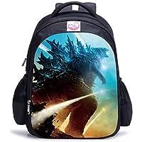 Godzilla Mochila Godzilla vs Kong Bolsas de escuela Estudiante Bolsa de almuerzo Bolsa de hombro Bolsas 3D, 12, S,