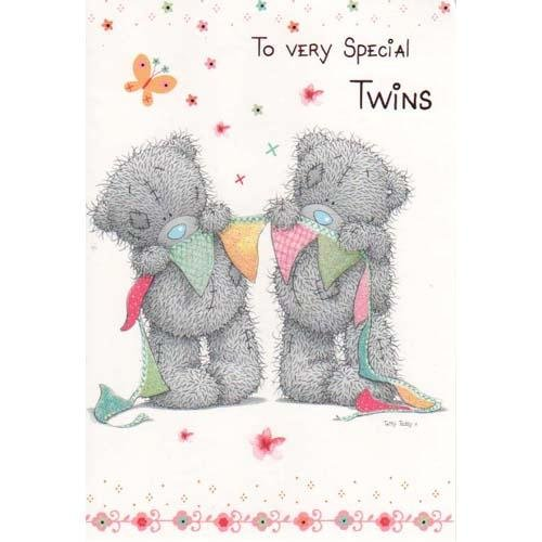 Twins Birthday Me To You Bear Card Amazon Toys Games