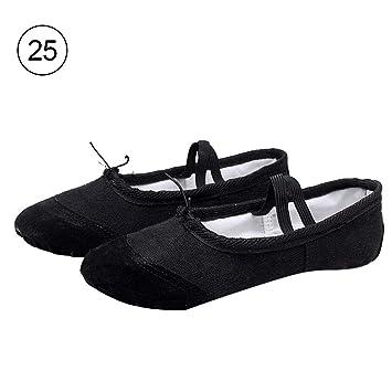 Liteness Zapatillas de Ballet de Lona para niñas/Zapatillas de Ballet, Zapatillas de Baile de Yoga, para niños pequeños, Niños, Chicas, Mujeres.
