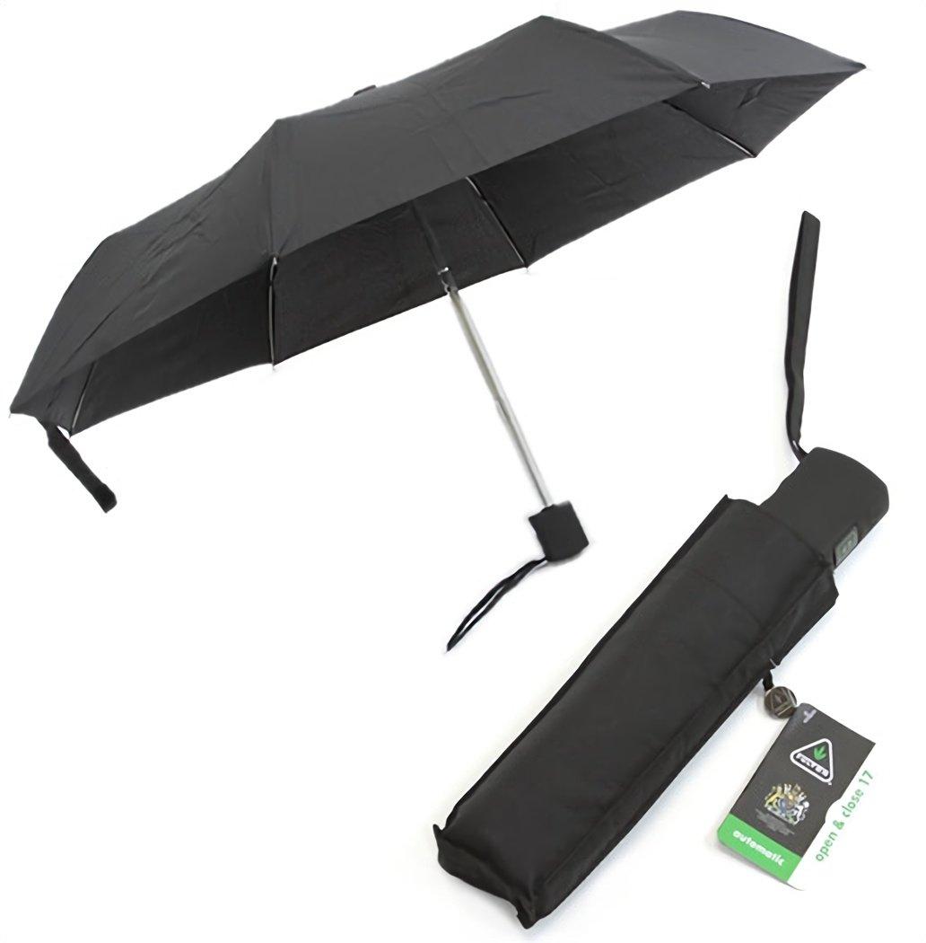 フルトン G819 007822 Open & Close-17 Black メンズ フラット 長方形 折りたたみ傘 ジャンプ傘 ワンタッチ 自動開閉 オートオープンクローズ アンブレラ [並行輸入品] B00Z5U3034