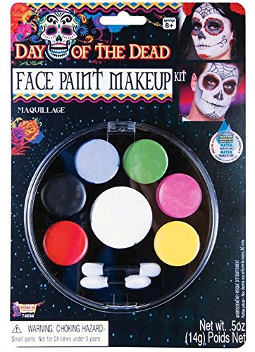 Forum Novelties - Day of the Dead Face Paint Makeup Kit, Net Wt. 14 g/.5 Oz (Dead Makeup)