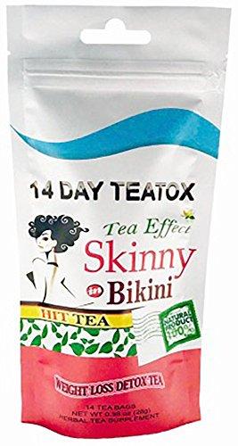 Skinny in Bikini 14 Day Teatox Natural Weight Loss Detox by Hit Tea (14 Tea Bags)