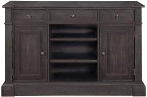 Coaster Home Furnishings Phelps 2-Door Rectangular Antique Noir Server, 39