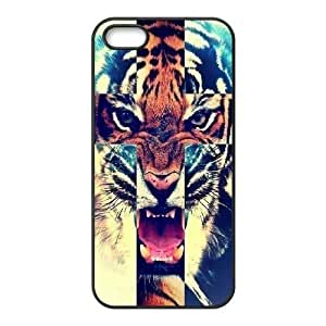 Cool Painting Tiger New Fashion DIY Phone Case for Iphone 5,5S,customized cover case case539170