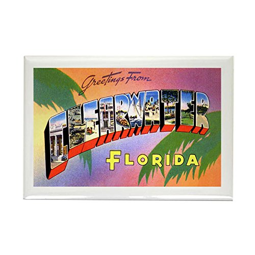 CafePress Clearwater Florida Greetings Rectangle Magnet, 2