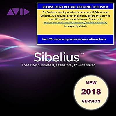 Sibelius 2018 Professional for Students and Teachers (Download Card)