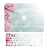 TOP CASE - 2 in 1 Bundle Old Macbook Pro 13' (13' Diagonally), Graphic Rubberized Hard Case + + Keyboard Cover for Old Generation Macbook Pro 13' with CD-ROM / DVD DRIVE Model: A1278 - Pink Hyacinth