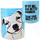 Pit Bull Manners Mug by Pithitude - One Single 11oz. White Coffee Cup