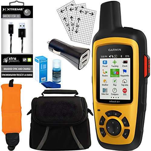 Garmin InReach SE+ GPS Bundle w/ Car Charger, Micro USB, Gadget Bag and more by Garmin