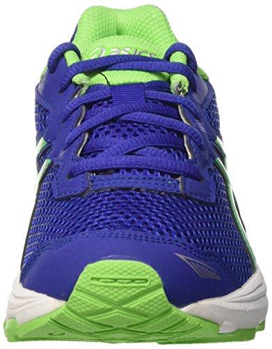 Asics Gt-1000 5 GS, Zapatillas de Gimnasia Unisex Niños Blu (Asics Blue/White/Green Gecko)