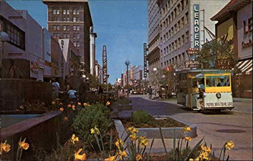 View of Mall Fresno, California Original Vintage - Fresno Mall California