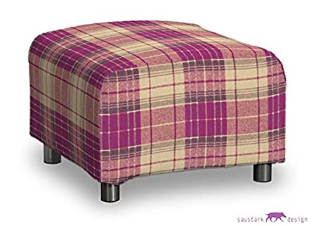 Saustark Design saustark design edinburgh cover for ikea klippan footstool checked