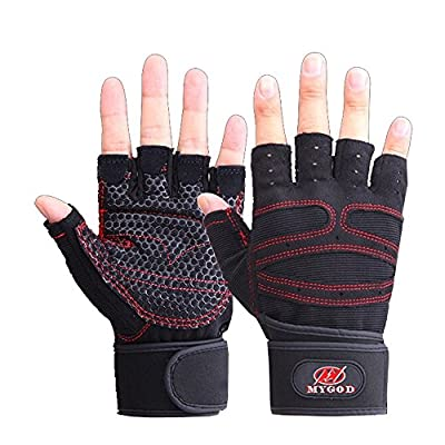 Elite Adult Fitness Training Half-finger Weight Lifting Gym Fitness Body Physical Fitness Glove Mens/Womens Workout Wrist Wrap Exercise Glove Weightlifting Stretch Strength Training Glove