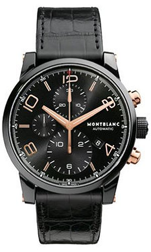 Montblanc-Timewalker-Black-Steel-Chronograph-Mens-Watch-105805