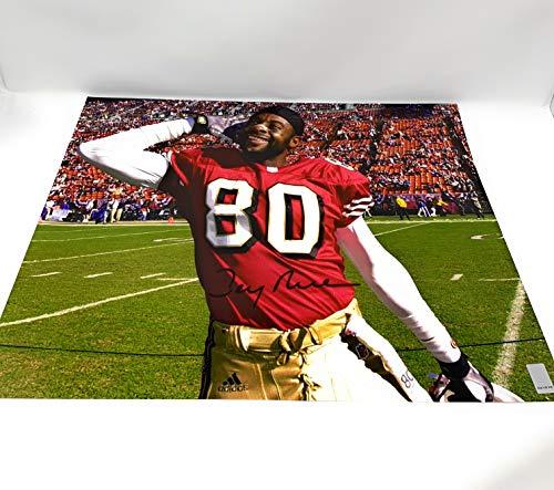 695dd2b93 Jerry Rice San Francisco 49ers Signed Autograph 16x20 Photo Photograph  Jerry Rice GTSM Player Hologram