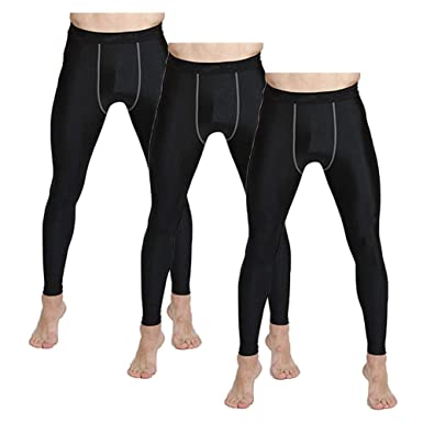 15de93ad72fbf Mens Running Tights Compression Base Layer Pants Sports Thermal Leggings