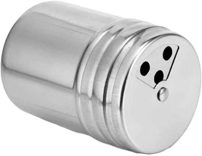 Ankamal Elec Frascos de Especias de Acero Inoxidable contenedores de Especias giratorios de Metal Sazonador Botella con coctelera giratoria
