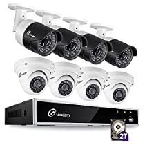 Loocam 8CH 1080P Video DVR Security Camera System, DVR Recorder with 2TB HDD and 8x 2MP Bullet cameras(4) & Dome Cameras(4), Motion Detection & Email Alert, Intuitive Android & iOS APP