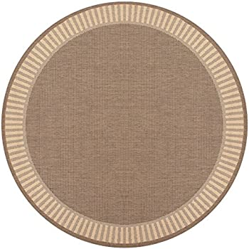 Amazon Com Couristan Recife 1681 1500 Wicker Round Rug 7