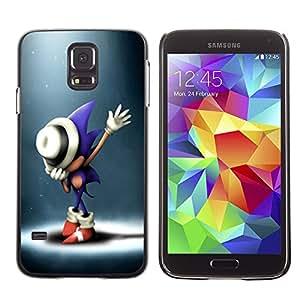 Snap-on Series Teléfono Carcasa Funda Case Caso para Samsung Galaxy S5 , ( S0nic Hedgehog )