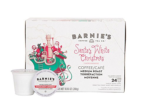 Barnie's Coffee & Tea Santa's White Christmas Single Serve Coffee, K Cups for Keurig Brewers, Medium Roast, Arabica Coffee Beans, 2 Boxes of 24 Count (White Christmas Tea)