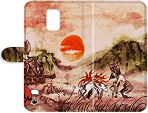 Lovers Gifts 3399662PJ517719089S5 Snap-on Hard Leather Case Cover Okami - Amaterasu Samsung Galaxy S5 Robert Taylor Swift's Shop