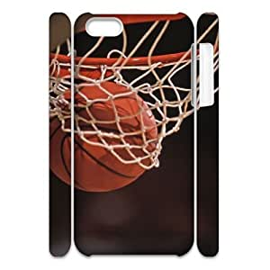 Iphone 5C 3D DIY Phone Back Case with basketball Image